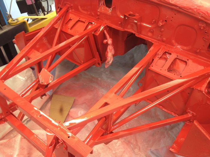 engine frames painted